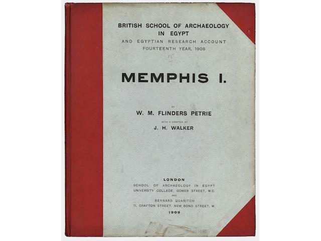 PETRIE (WILLIAM M. FLINDERS) British School of Archeology in Egypt and Egyptian Research Account. Memphis I [-VI], 6 vol.