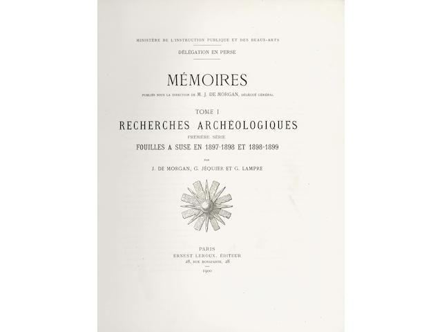 DE MORGAN (JACQUES) and others Délégation en Perse. Mémoires, vol. 1-33 and 36 bound in 19