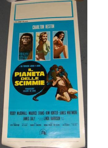 A collection of five Planet of the Apes, 20th Century Fox, 1968 and sequels posters, all being Italian Locandine,