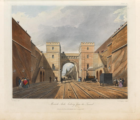 RAILWAYS BURY (THOMAS TALBOT) Coloured Views on the Liverpool and Manchester Railway, with a Plate of the Coaches, Machines &c. From Drawings Made on the Spot, 2 original parts