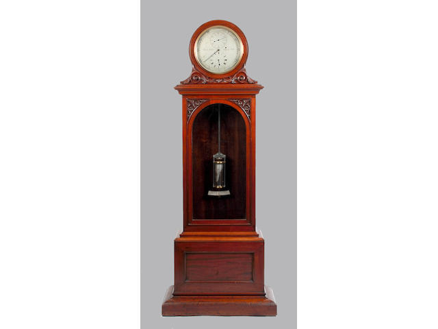 A mahogany cased floor standing regulator Frank Weeks, Newport. I.W. 1867-1878