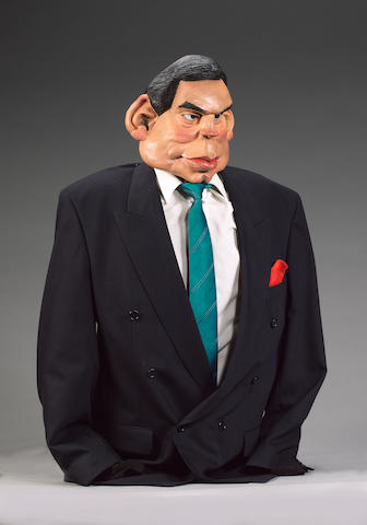 A puppet of Gordon Brown from the TV series, 'Spitting Image', half length, in moulded foam latex,