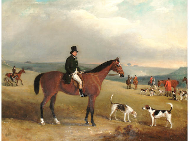 John Ferneley Jr. (British, 1815-1862) A gentleman out hunting