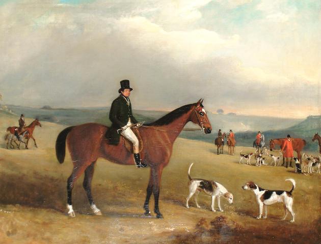 John Ferneley Jr. (British, 1815-1862) A gentleman out hunting