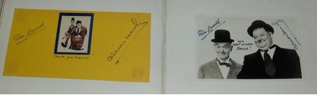 A collection of autographs,
