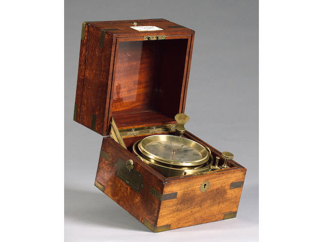 A Usher & Cole two day marine chronometer,  English,  early 20th century,