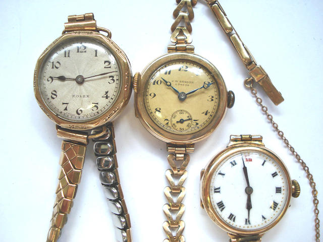 A lot of three various lady's wristwatches, 3