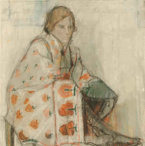 Anne Redpath, OBE RSA ARA LLD ARWS ROI RBA (British, 1895-1965) The orange seller