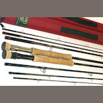 An Orvis Trident Tip Flex 9.5 four piece carbon fly rod 9ft