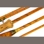 A  Hardy Brothers The 'C.C. de France'  two piece built cane trout fly rod 9ft