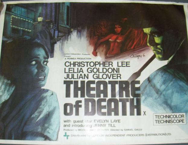 Two Chrisopher Lee related UK Quad posters, including: