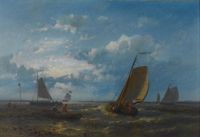 Abraham Hulk, Snr (Dutch, 1813-1897) Setting off for the fishing grounds; A calm anchorage each 17.8 x 25.4cm. (7 x 10in.), (2)