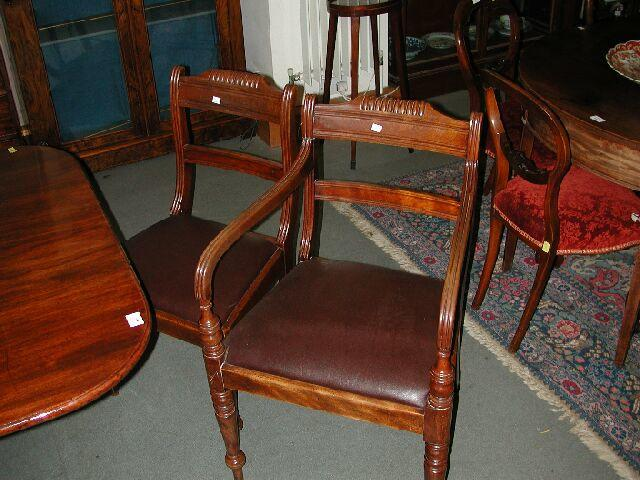 A set of six George IV/William IV mahogany dining chairs,