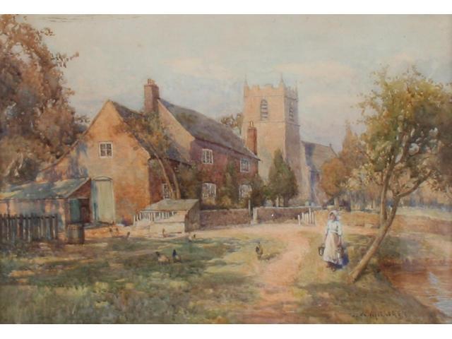"""J. W. Milliken """"A Worcestershire Farmstead"""","""