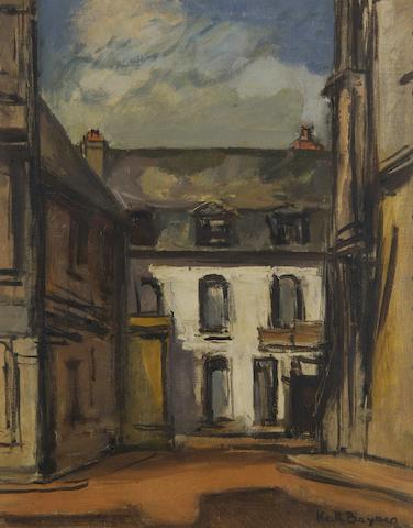 Keith Baynes (British, 1887-1977) Street scene with houses,