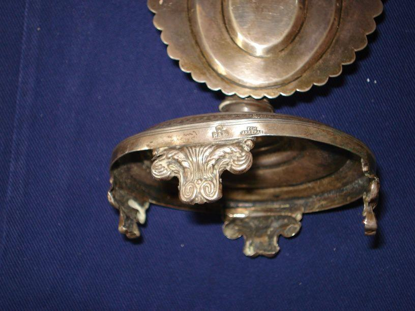 A mid 19th century Spanish silver tooth pick holder F A Carreras, Barcelona