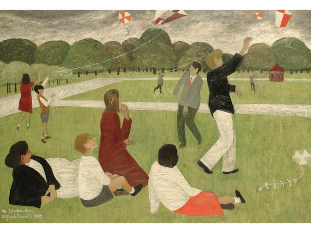 Alfred Daniels (British, born 1924) Kite flying in Kensington