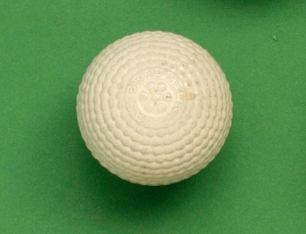 A James Bradbeer Finch bramble patterned gutty golf ball circa 1900