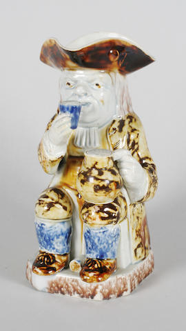 A Staffordshire pearlware Toby jug  Circa 1790