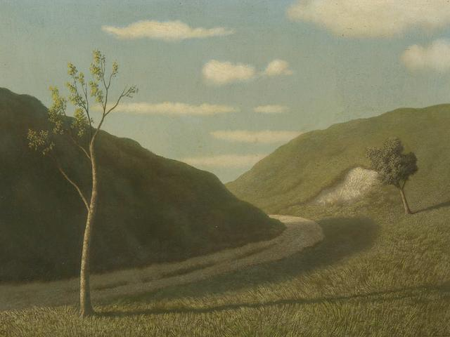 "Algernon Newton (British, 1880-1968) ""A Downland Road"","