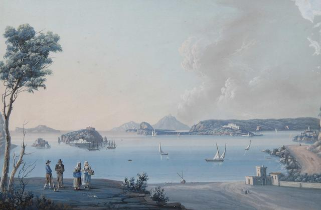 Neapolitan School, 19th Century The Bay of Naples - six various views,