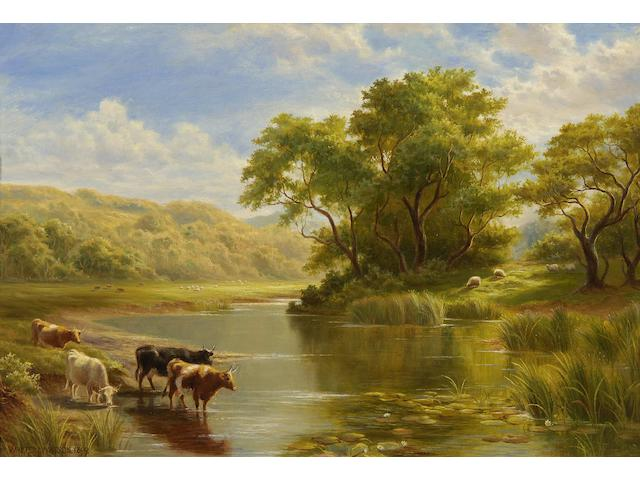 "Walter J. Watson (British, born 1879) ""On the Kennet, near Reading, Berkshire"","