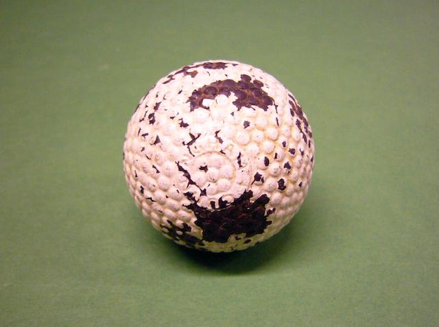 A Cunningham Double Core Patent bramble golf ball