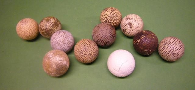 A collection of bramble patterned golf balls