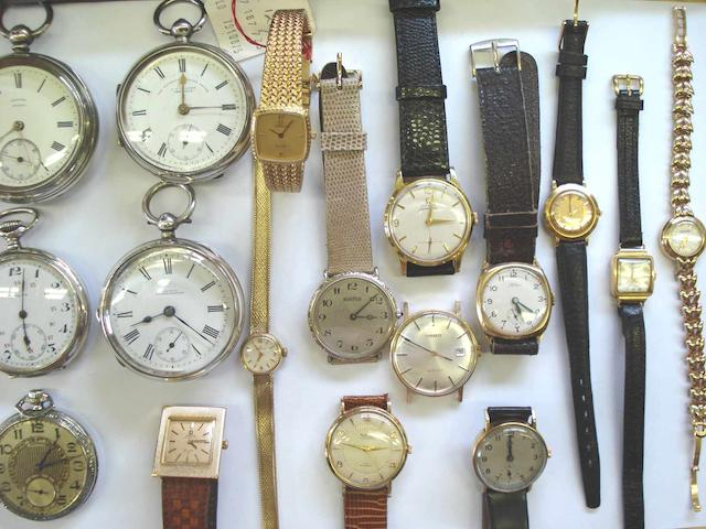A lot of 15 various wristwatches and 5 various pocket watches  20