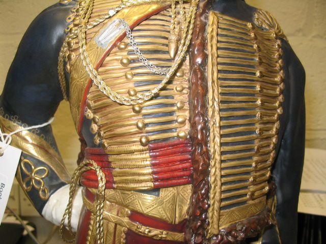 Michael J Sutty bone china figure '11th Hussars, 1857 'The Cherry Pickers'dated 1991,