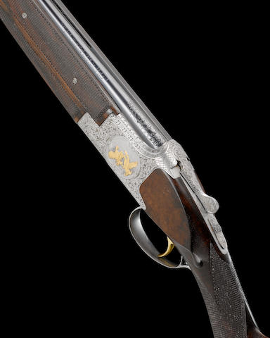 A fine Diet de Sarolay engraved 28-bore (2¾in) single-trigger over-and-under ejector gun by F.N., no. 145F73 In F.N. Browning carton