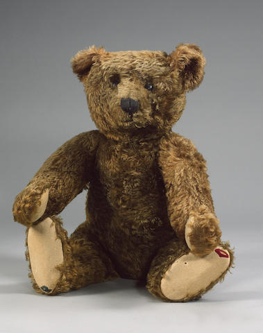 Rare cinnamon centre seam Steiff Teddy bear, German circa 1909