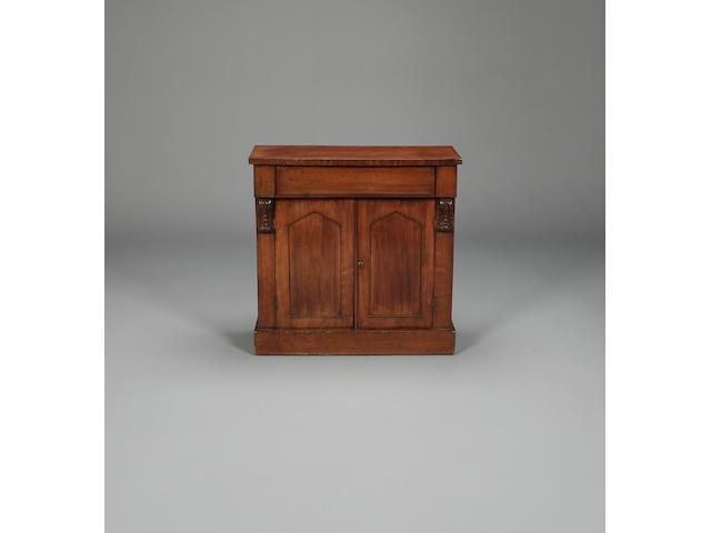 An early Victorian mahogany chiffonier,