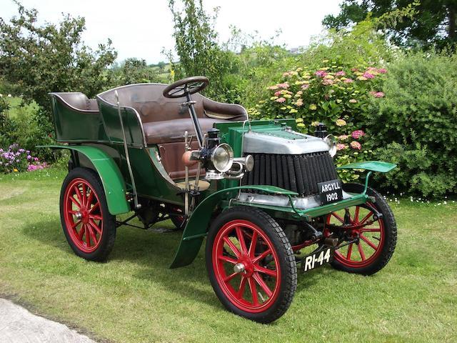 1902 Argyll 8hp Rear Entrance Tonneau  Chassis no. 180 Engine no. 198