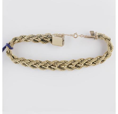 A fancy-link bracelet,