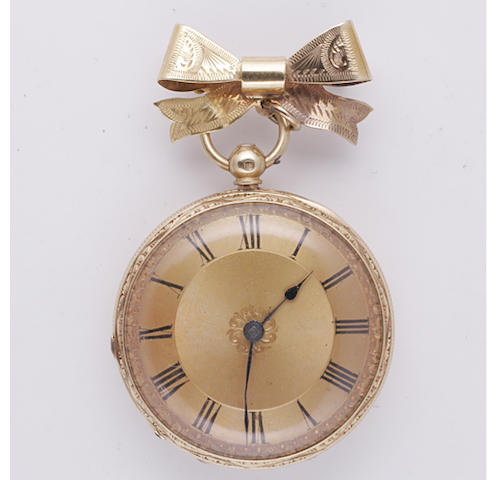 Gray, Belfast: An 18ct gold open faced pocket watch,