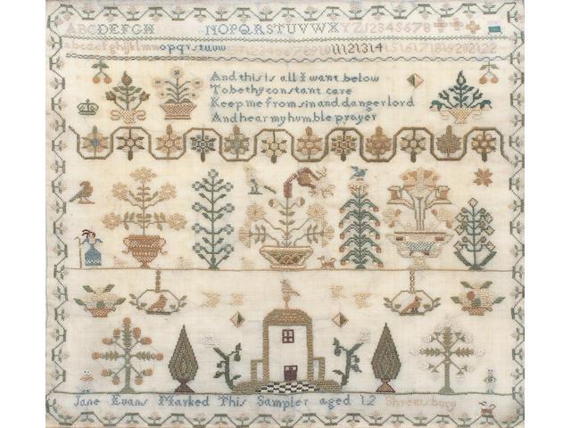 A 19th century sampler
