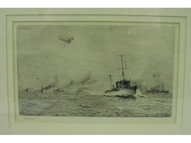 William Lionel Wyllie, R.A., R.E. (British, 1851-1931) The convoy