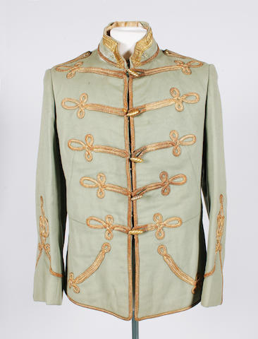 'Property of the London Opera Players' A collection of 19th style military costume,