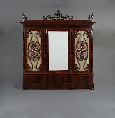 A 19th century mahogany wardrobe