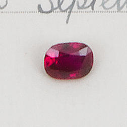An unmounted Burma ruby