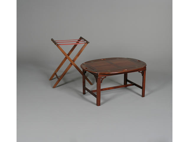 A tray on stand