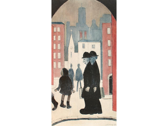 Laurence Stephen Lowry R.A. (British, 1887-1976) 'Two Brothers'