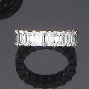 A diamond full-hoop eternity ring, by Boodle & Dunthorne
