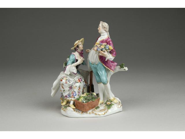 A Dresden porcelain group,
