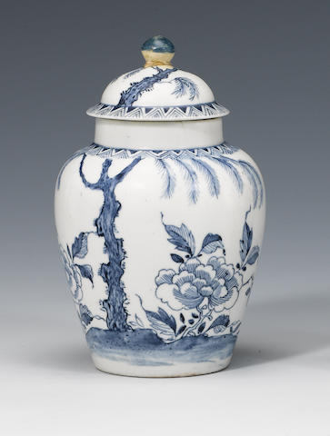A rare Bow small vase and cover circa 1752-54