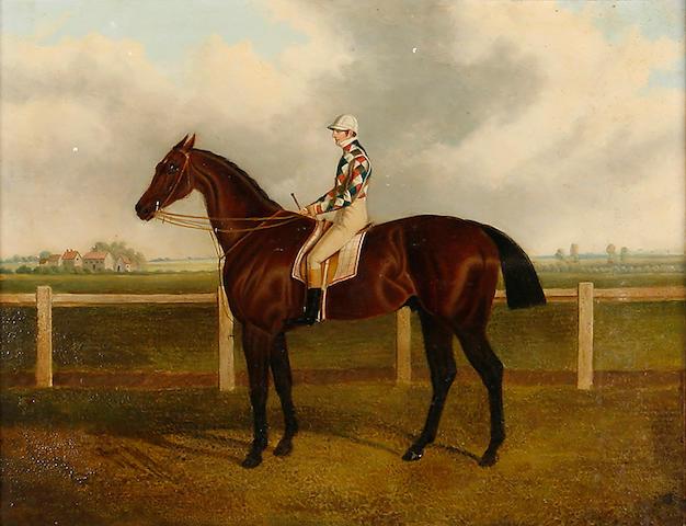 Circle of John Frederick Herring Sr. (British, 1795-1865) 'Rockingham', with jockey up, winner of St Leger 1833