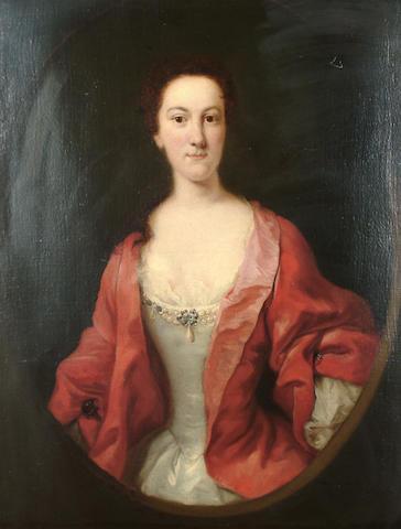 Circle of Thomas Hudson (Devonshire 1701-1779 Twickenham) Portrait of a lady, said to be Caroline Digby, 91.7 x 71.7cm (36 1/8 x 28¼in)