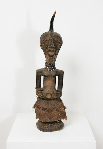 An impressive Songye wood fetish figure,