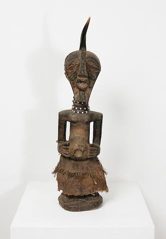 An impressive Songye wood fetish figure,